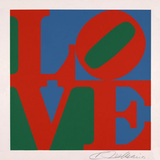 Robert Indiana, Love, from American Dream Portfolio, 1998