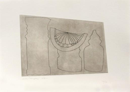 Ben Nicholson, Turkish sundial between two Turkish forms, 1967