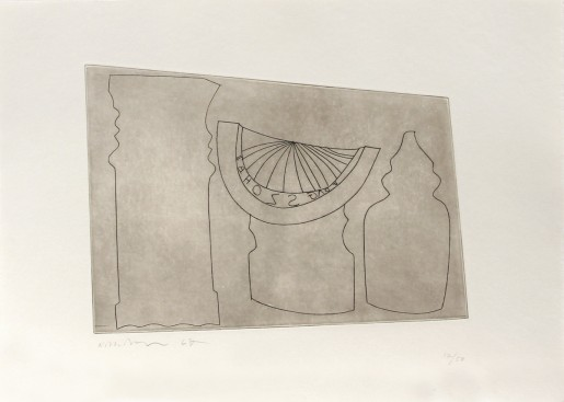 Ben Nicholson, Turkish sundial between two Turkish forms, 1967