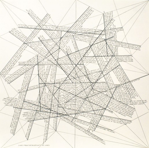 Sol LeWitt, The Location of Lines. Lines from the Midpoints of Lines., 1975