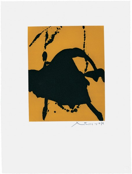 Robert Motherwell, Gesture I (State I), 1977