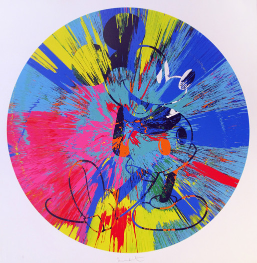 Damien Hirst, Beautiful Mickey (Spin), 2015