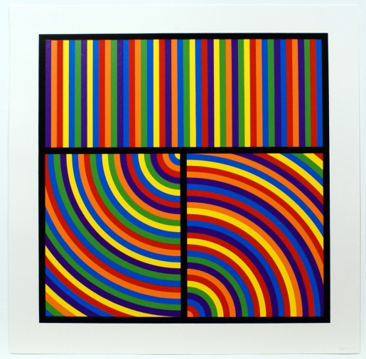 Sol LeWitt, Bands of Equal Width in Colour 3, 2000
