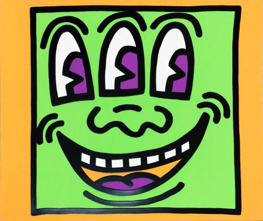 Keith Haring, Icons (E) - Three Eyed Man, 1990