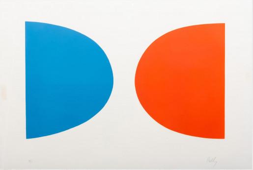 Ellsworth Kelly, Blue and Orange (Bleu et orange) from Suite of Twenty Seven Color Lithographs, 1964-1965
