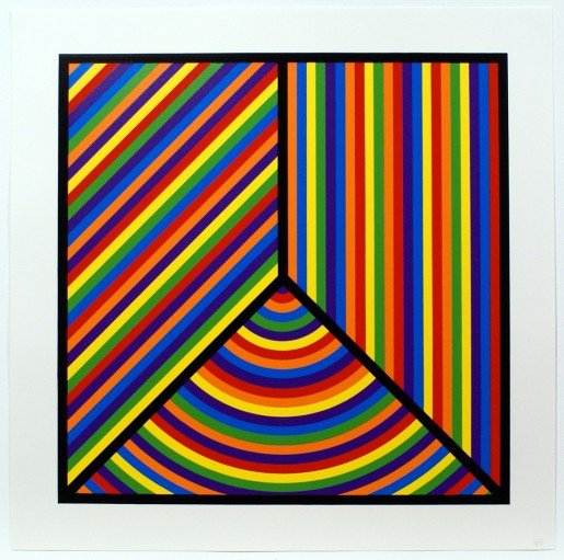 Sol LeWitt, Bands of Equal Width in Colour 7, 2000