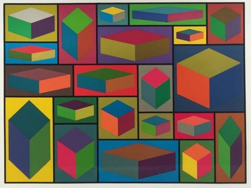 Sol LeWitt, Distorted Cubes #2, 2001