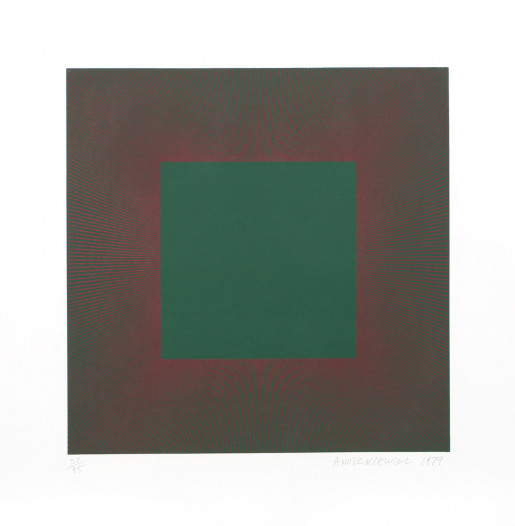 Richard Anuszkiewicz, Autumn Suite (Green with Red), 1979