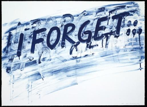 Mel Bochner, I Forget, 2014
