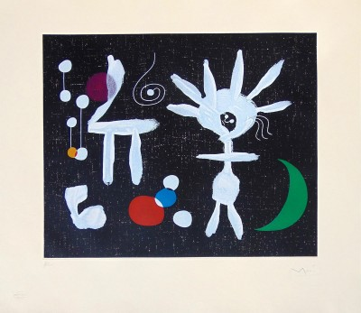 Joan Miró, Morning Rose in Moonlight | Rose Matinale Au Clair De La Lune, 1958