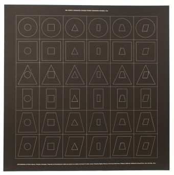 Geometric Figures within Geometric Figures (b) by Sol LeWitt