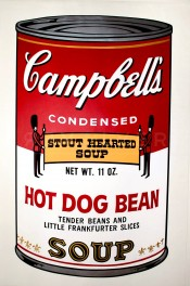 "Hot Dog Bean (FS II.59), from the Portfolio ""Campbell's Soup II"""