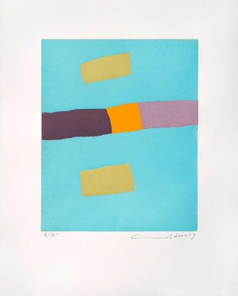 Etel Adnan, Un Moment de Lumière, 2017