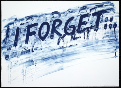 I Forget by Mel Bochner