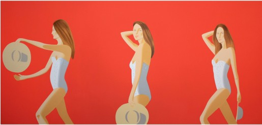 Alex Katz, Ariel (red), 2016