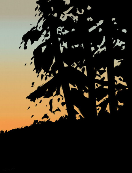 Alex Katz, Sunset 1, from Sunrise Sunset Portfolio, 2020