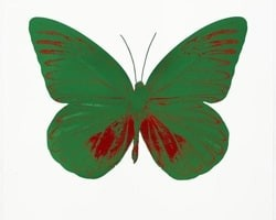 The Souls I - Emerald Green/Chilli Red by Damien Hirst