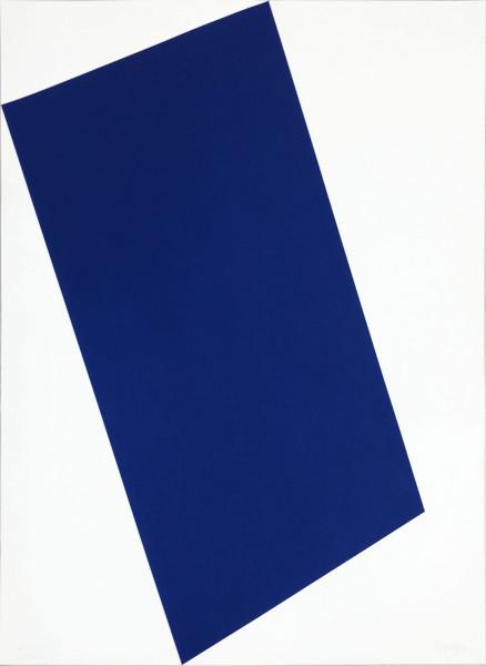 Ellsworth Kelly, Blue (for Leo) from the portfolio of Leo Castelli's 90th Birthday, 1997