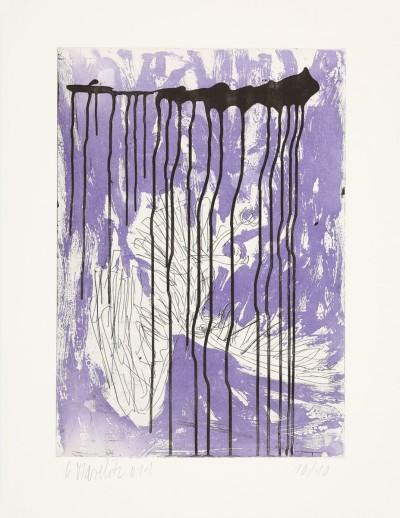 Fortuna (Farbvariante in Violett) by Georg Baselitz
