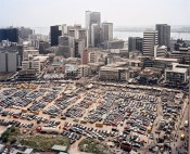 Central business district on Lagos Island, Lagos, Nigeria