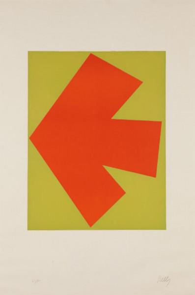 Ellsworth Kelly, Orange over Green (Orange sur Vert), from the Suite of Twenty-Seven Color Lithographs, 1964