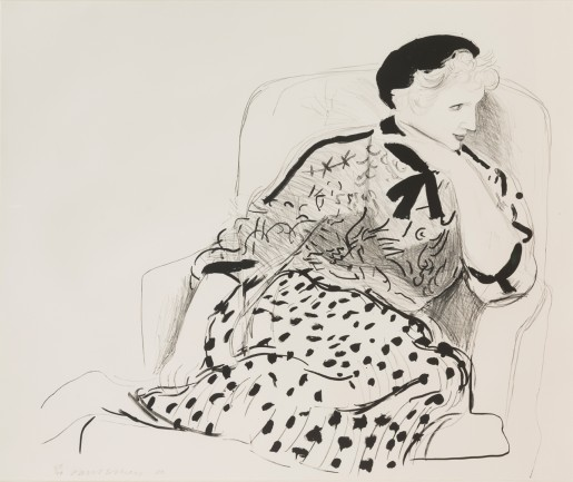 David Hockney, Celia in Armchair, 1980