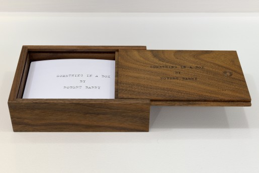 Robert Barry, Something in a Box, 2014