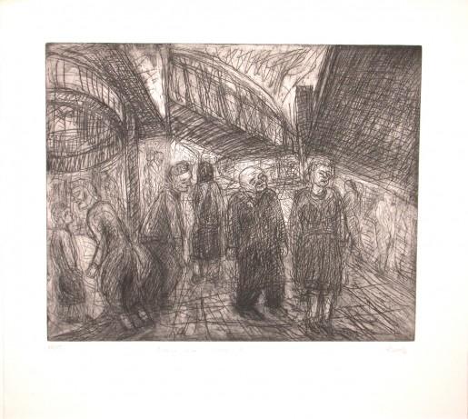Leon Kossoff, Outside Kilburn Underground, 1984