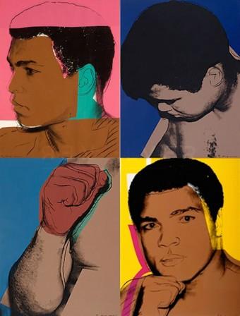 Muhammad Ali (FS II.179-182) by Andy Warhol