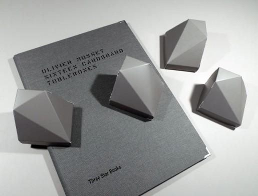 Olivier Mosset, 16 Cardboard Toblerones, 2010