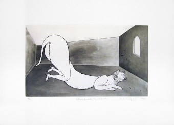 Champfleurette, the white cat by Louise Bourgeois