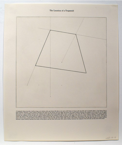 Sol LeWitt, The Location of a Trapezoid, 1975