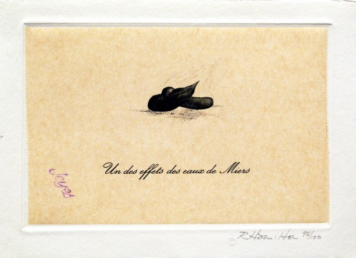 "Richard Hamilton, Un des Effets des Eaux de Miers (from ""Eighteen Small Prints""), 1973"
