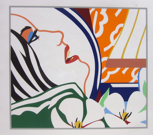 Tom Wesselmann, Bedroom Face with Orange Wallpaper, 1987