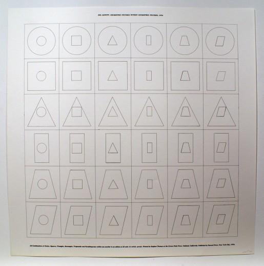 Sol LeWitt, Geometric Figures within Geometric Figures (a), 1976