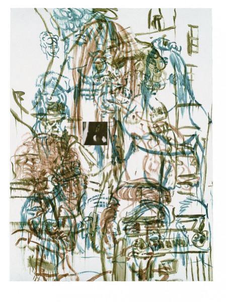 David Salle, Theme for an Aztec Moralist V, 1983
