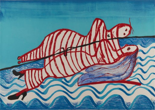 Louise Bourgeois, Hamlet and Ophelia (State V of VI), 1996-1997