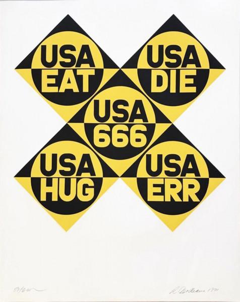 Robert Indiana, Decade (USA 666), 1971