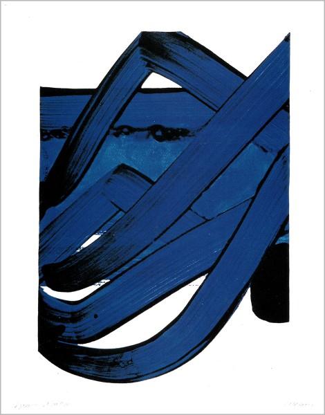 Pierre Soulages, Sérigraphie No. 18, 1988