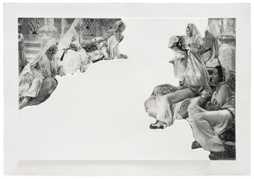 John Baldessari, Crowds with Shape of Reason Missing: Example 5, 2012