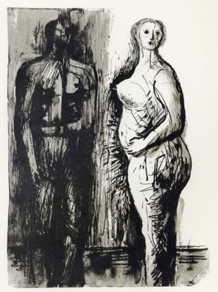 Henry Moore, Man and Woman, 1973