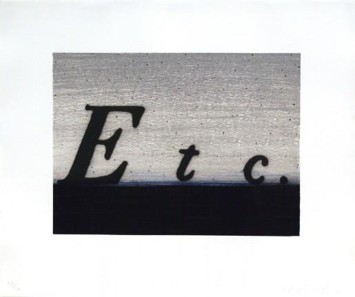 Ed Ruscha, Etc., 1991