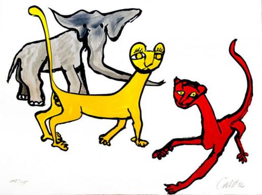 Alexander Calder, Our Unfinished Revolution: Animals, 1975-1976