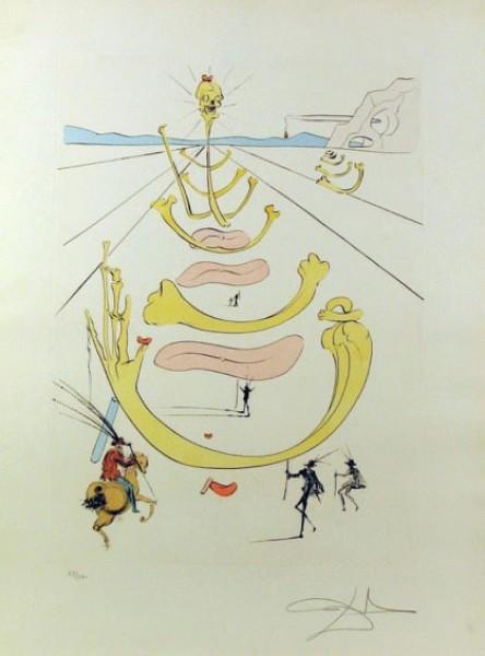 Salvador Dalí, Masque de la Mort, 1975
