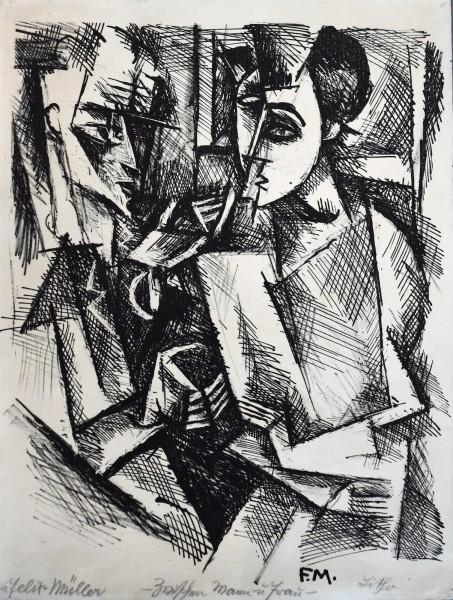 Konrad Felixmüller, Between Man and Woman | Zwischen Mann und Frau, 1917