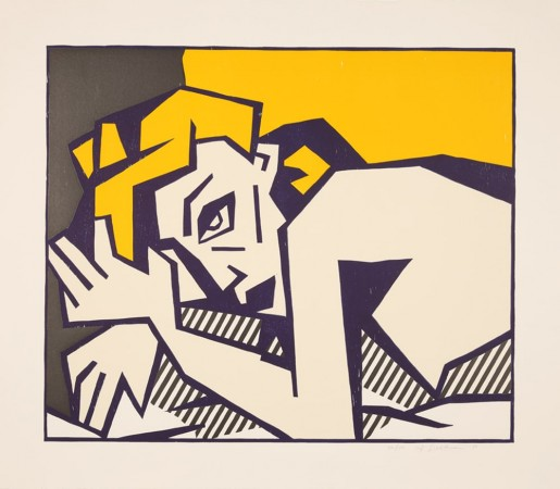 """Roy Lichtenstein, Reclining Nude from the """"Expressionist Woodcuts"""" Series, 1980"""
