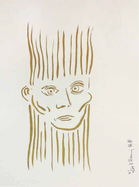 Keith Haring, Portrait of Joseph Beuys (Deluxe Edition), 1986