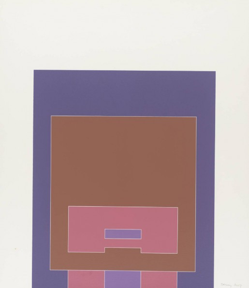 Robyn Denny, Waddington Suite (purple/brown/pink), 1968-9