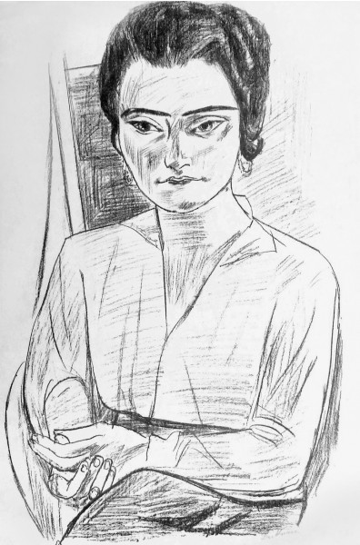 "Max Beckmann, ""Young Woman"" (Portrait of Naila, ""Mrs H.M."" ) / Junge Dame (Bildnis Naila, ""Frau H.M.""), 1923"