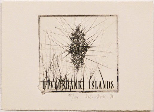 """Dieter Roth, Uvigs Bank Islands (from """"Eighteen Small Prints""""), 1973"""